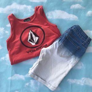 Volcom Tank & Arizona Jean Shorts bundle